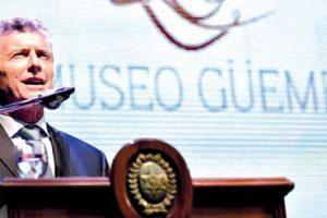 """Macri sobre los ideales de libertad y sueños de Guemes: """"son sentimientos que nuevamente estamos viviendo hoy en la Argentina""""."""