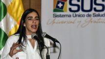 La ministra de Salud de Bolivia Gabriela Montaño.