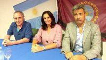 La ministra de Salud, Josefina Medrano, y el nuevo gerente del hospital Perón, Juan Ramón López