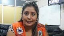 La médica Alba Rifarach, con medios de Yacuiba.